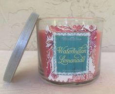 Bath and Body Works 3 wick 14.5 oz Candle Watermelon Lemonade Floral Lid New #BathBodyWorks