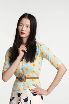 #Anthropologie #MadeInKind #LeahGoren - love the cardi and the belt!