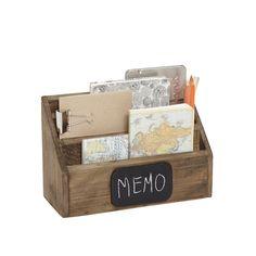 Briefhalter/Briefablage aus Holz von Hübsch Interior