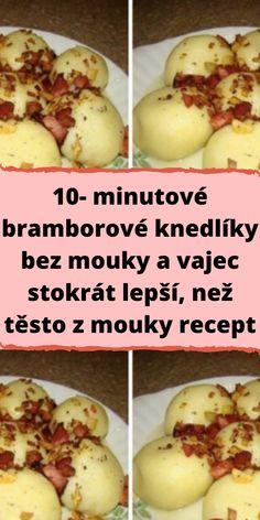 Potato Recipes, Vegan Recipes, Cooking Recipes, Czech Recipes, Ethnic Recipes, Dumplings, Gnocchi, Baked Potato, Food Porn