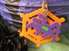 SPIDERWEB KEYCHAIN with Purple Spider // Spooky by RainbowMoonShop, $4.75
