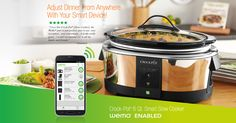 7-Quart Smart WiFi Programmable Slow Cooker Crock Pot