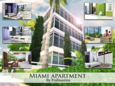 Miami Apartment by Pralinesims at TSR via Sims 4 Updates