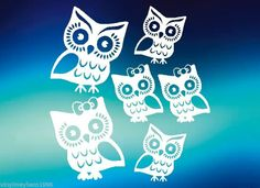 Owl Family vinyl stickers decals car truck suv cute bow wall home hoot wise $4.95