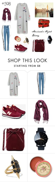 """""""#598 London Trip"""" by aminahs-hijab-diary ❤ liked on Polyvore featuring New Balance, H&M, Mansur Gavriel, Noir Jewelry and Anthropologie"""