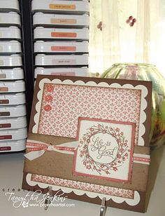 Elemental papers and Wreath stamp set. Beautiful!