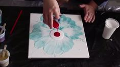 How to Blow a Flower with Acrylic Fluid Paint
