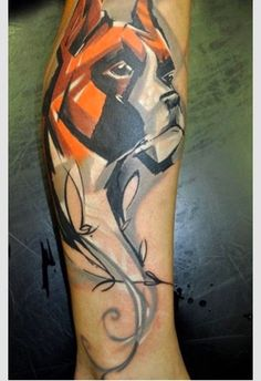 Bóxer Amigos: tatuaje