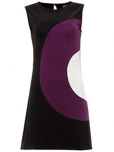 Peggy Dress, black/purple/white