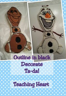 Olaf Cake from the movie Frozen Tips and Tricks!