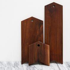 Image of walnut serving board | arrow | medium