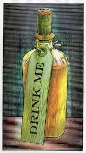 Image result for alice drink me illustrations