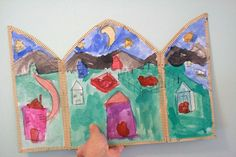 "Triptych project from ""Discovering Great Artists: Hands-On Art for Children in the Styles of the Great Masters."""