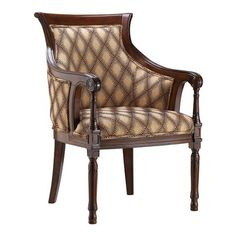 This accent chair is sure to catch the attention of your visitors with its geometric-pattern fabric. The chair features a solid birch frame for long-lasting use, and the seating area and the back are padded for extra comfort.