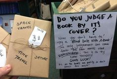 Blind date with a book! Cute idea. If I ever worked at or owned a book store, I would do this with some of my favorite books and sell them that way.  Would also be a great gift idea for a book lover, with a stack of a couple of them.