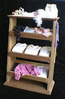 Dollhouse miniature 1/12,shelf for Ladies made by me