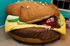 Hamburger-bed-rond-slaapkamer-tieners-humor-