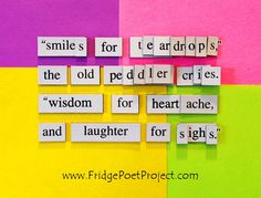 The Daily Magnet #281 Magnetic Poetry; Demagnetize Writer's Block! www.FridgePoetProject.com #writerslife