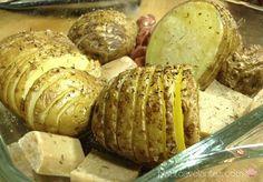 Patatas en acordeón al horno
