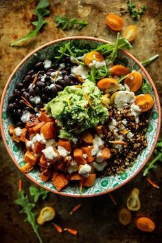 Cuban Quinoa Bowl with Spicy Lemon Dressing Vegan and Gluten Free