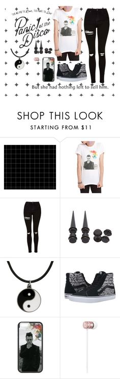 """""""Don't threaten me with a good time"""" by beckemmeline ❤ liked on Polyvore featuring Topshop, Carolina Glamour Collection, Vans, Beats by Dr. Dre, bandtshirt and bandtee"""