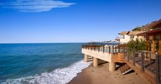 Studio PCH and Montalba Architects converted a beachfront hotel into Nobu Ryokan Malibu, the first in a line of high-end, Japanese-inspired retreats. Hotels In Malibu, Malibu Beaches, Hotels And Resorts, Pacific Coast Highway, Hotel California, California Travel, Big Sur, Newport Beach, South Beach