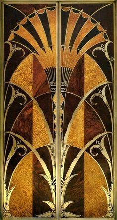 "mote-historie: "" Art Deco Elevator Door 1930 The Chrysler Building, NYC Designed by architect William Van Alen for a project of Walter P. Motifs Art Nouveau, Motif Art Deco, Art Deco Design, Art Deco Print, Art Deco Artwork, Art Deco Paintings, Art Deco Illustration, Art Deco Stil, Modern Art Deco"