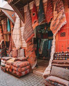 Moroccan rugs, Marrakech via Live Like it's the Weekend on Instagram