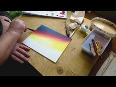 How to paint an acrylic sunset, paint a sunset in acrylics. A tutorial for beginners. PART 1 - YouTube