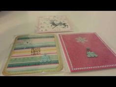 3 Simple Christmas Cards using stickers - YouTube