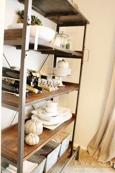 pleasantly surprised {a new dining room display shelf}