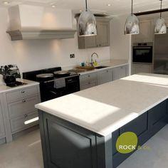 Carrera & Attica White Carrera combination - Oxfordshire - Rock and Co Granite Ltd Marble Quartz, White Quartz, Carrara, Granite, Kitchen, Home Decor, Cuisine, Homemade Home Decor, Home Kitchens