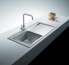 "BAI 1233 - 48"" Handmade Stainless Steel Kitchen Sink Single Bowl With Drainboard Top Mount 16 Gauge"