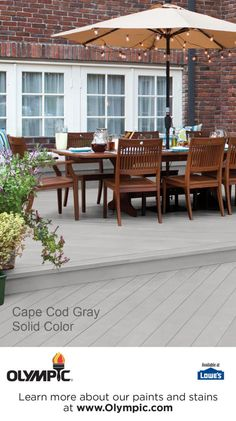 CAPE COD GRAY is a part of the Olympic Stains - Solid collection by Olympic® Stains.