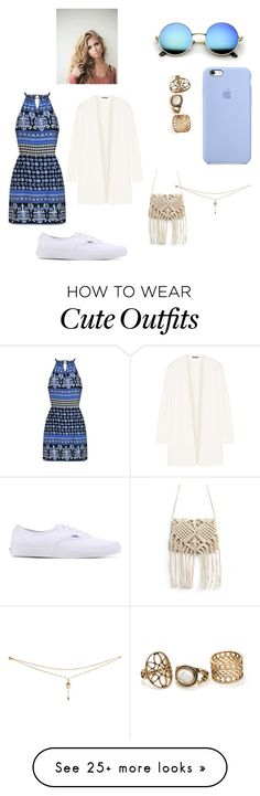 """Cute lil beach date outfit!!"" by shortygrl02 on Polyvore featuring Theory, Vans, cutecardigan and springlayers"