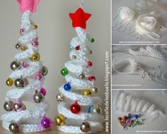 How About Trying These Whimsical Crochet Christmas Trees? - http://www.amazinginteriordesign.com/trying-whimsical-crochet-christmas-trees/