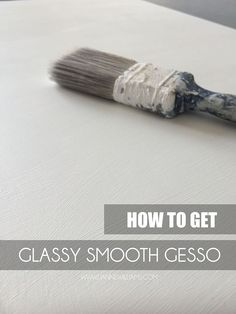 How to get glassy smooth gesso for wood boards ready for colour pencil, drawing, and painting with acrylic or oils.