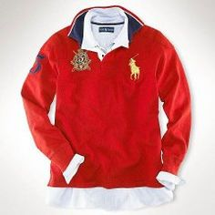 Ralph Lauren Custom-Fit Big Pony Rugby Red