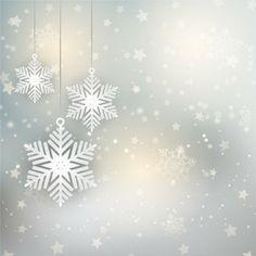 Fondo navideño con copos de nieve y estrellas