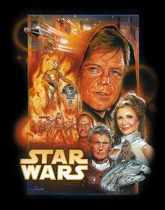 Episches Star Wars Episode 7 Poster von Adam Schickling - Atomlabor Wuppertal Blog