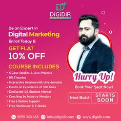 Learn digital marketing from the digital people and make your journey towards a successful digital marketing career. . . . . #digidir #digitalmarketing #onlineclasses #elearning #learndigitalmarketing #digitallearning #LearnOnline #digitalmarketingcareer #InDemandJobs #digitalmarketer #digitalmarketingexpert #DigitalAgency #career #careergoals #careergrowth #digitalentrepreneur #digitalentrepreneurship #digitally #onetooneclasses #learnonlinemarketing #digitalstrategies #learnstrategies…
