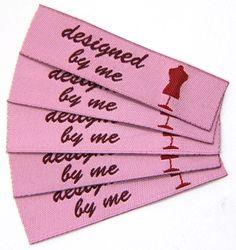Fertige Namensbänder, Textiletiketten, handmade Stofflabels für die Handarbeit.  http://www.namensbaender.de/shop/beschriftete-webetiketten/24