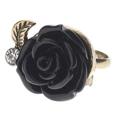 SO WANT FOR MY BIRTHDAY (4/4)     Z&X®  Vintage Style Black Rose Ring – USD $ 0.99