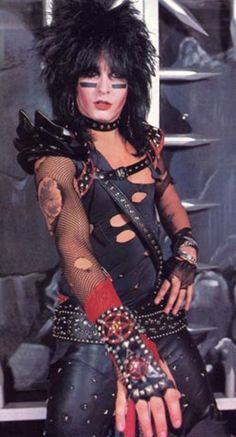 Nikki Sixx: The Architect of Motley Crue.even in the early days you can see his talent in the costumes he created. Hair Metal Bands, Hair Bands, 80 Bands, Rock Bands, 80s Halloween Costumes, Halloween 2019, Motley Crue Nikki Sixx, Sixx Am, Shout At The Devil
