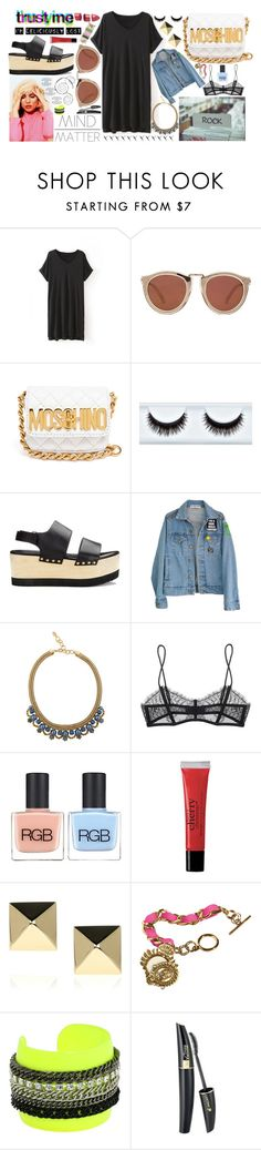 """Walk Of Life."" by evburke ❤ liked on Polyvore featuring Karen Walker, Børn, Moschino, Joseph, High Heels Suicide, Elizabeth Cole, Maison Close, RGB, philosophy and Anita Ko"