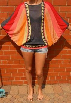 Love this!  Multi-coloured Long sleeved Top | RakeGirl | ASOS Marketplace