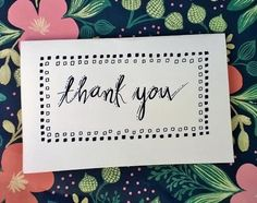Thank You Cards with Envelopes by ChampaignPaper on Etsy, $10.00