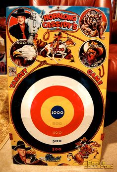 Marx Hopalong Cassidy target game