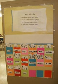 """Rescue Tired Words"" - Interactive Classroom Word Wall!"