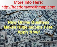 Make Big Money Fast With This New Online Offer! Watch Video For Further Details! http://freedomwealthmap.com